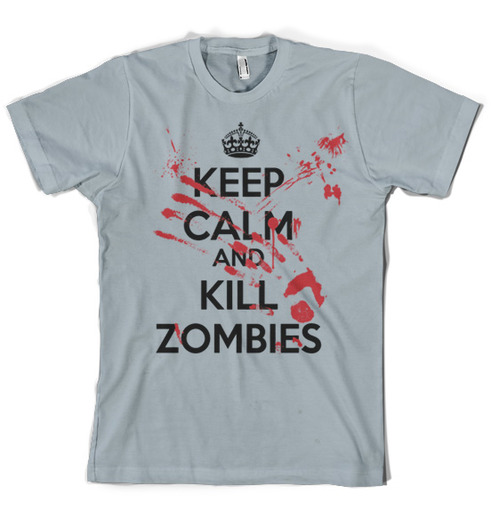 keep calm kill zombies shirt