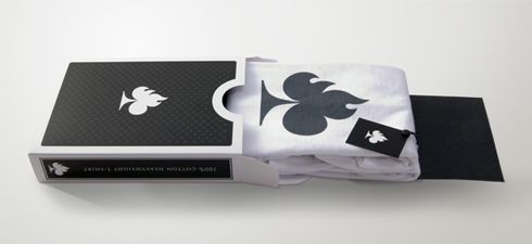 burn card t-shirt packaging
