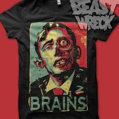 obama zombie t-shirt