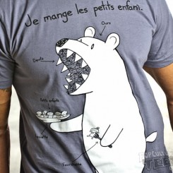 French Bear loves eating little children