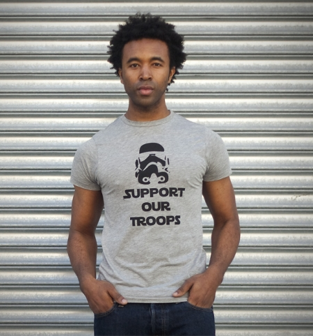 support our troops star wars t-shirt