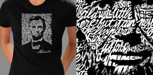 lincoln gettysburg address t-shirt