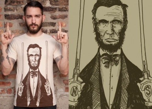 abrahamm Lincoln cool t-shirt north south