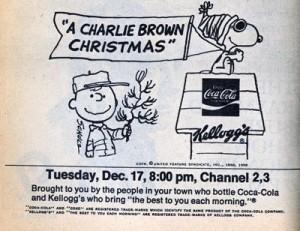 charlie brown christmas cola cola