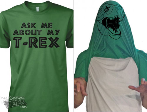 t-rex-funny reversable t-shirt