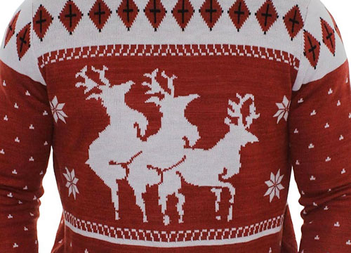 ugly christmas sweater reindeer