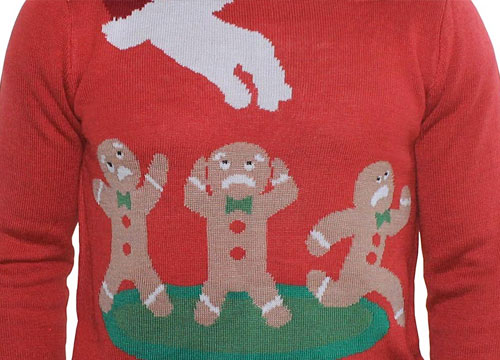 ugly christmas sweater gingerbread men