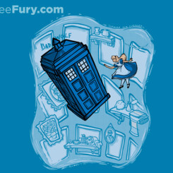 dr who tshirt alice wonderland
