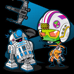 r2d2 tshirt star wars invader zim