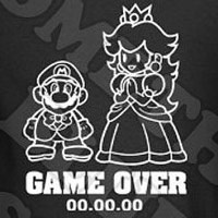 game over mario brothers wedding