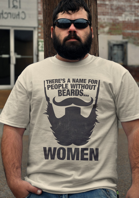Fear the beard funny beard t shirts This guy has an awesome girlfriend shirt