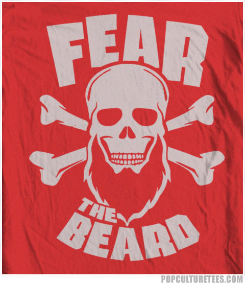 fear the beard tshirt skull crossbones