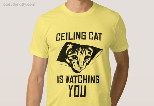 ceiling cat t-shirt