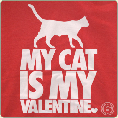 cat valentines day tshirt