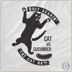 cats vs cucumber t_shirt