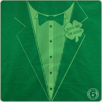 irish tuxedo t shirt st patricks day